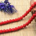 Beads, Glass, Burgandy , Round shape, Diameter 8mm, 10 Beads, [BHB0153]